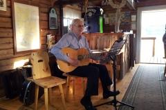 Kalle Berglund på besök i puben